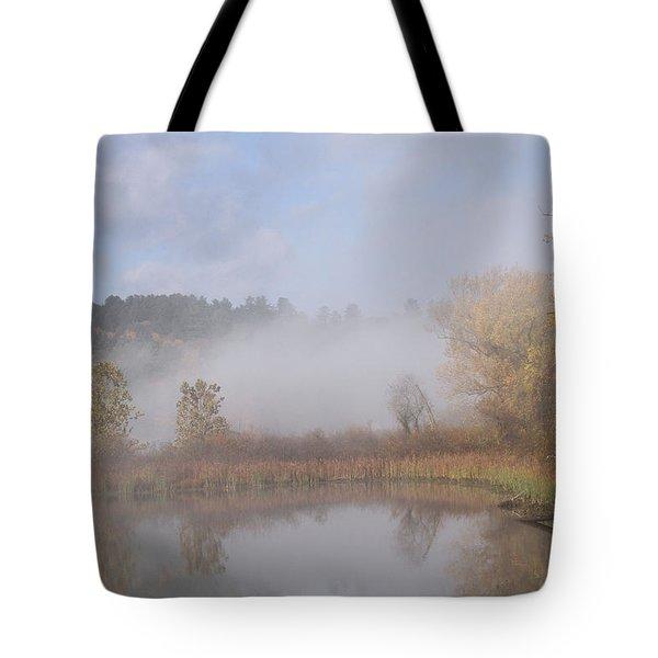 Foggy Morning  Tote Bag by Doris Potter