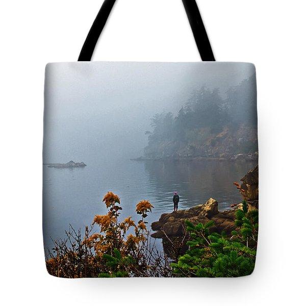 Foggy Morning Tote Bag by Robert Bales