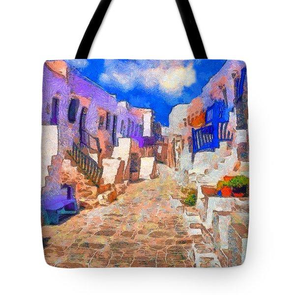 Folegandros Tote Bag by George Rossidis
