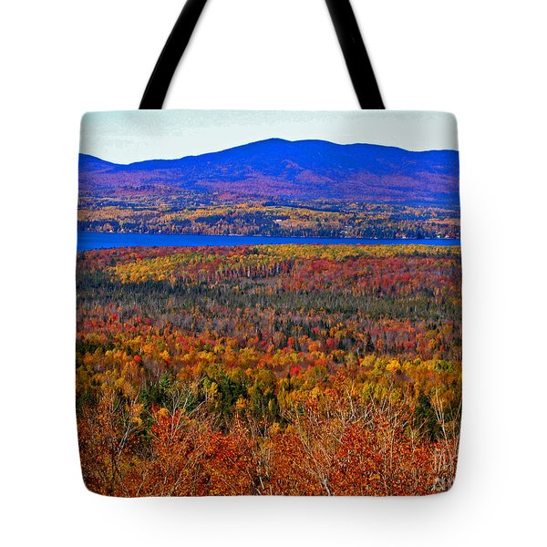 Foliage From Height Of Land Tote Bag