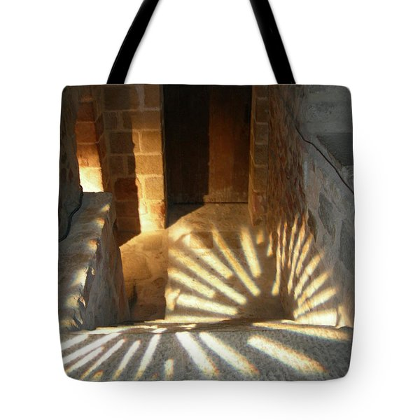 Follow The Light-stairs Tote Bag
