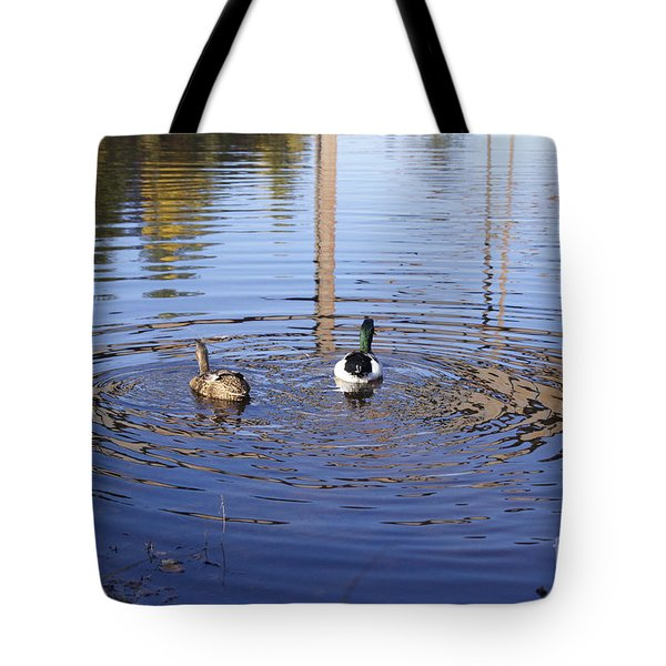 Following Theirs Path By Line Gagne Tote Bag by Line Gagne