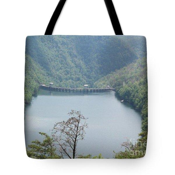 Fontana Dam Tote Bag by Janice Spivey
