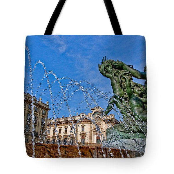 Tote Bag featuring the photograph Fontana Di Piazza Solferino by Sonny Marcyan