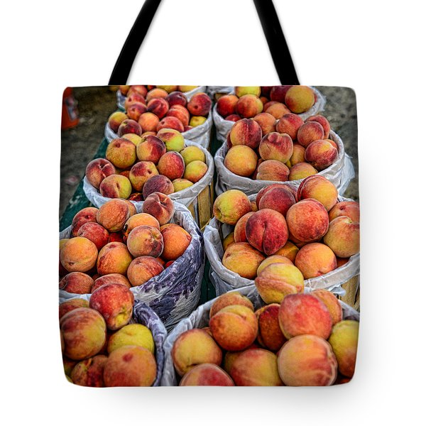 Food - Harvested Peaches Tote Bag by Paul Ward