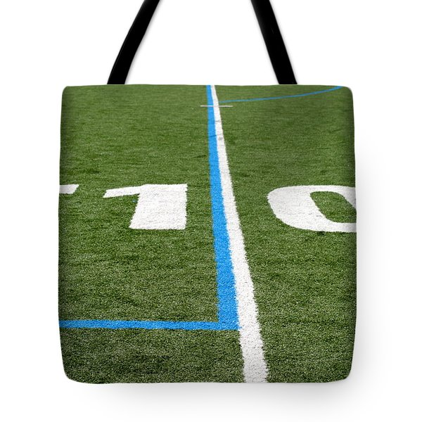 Tote Bag featuring the photograph Football Field Ten by Henrik Lehnerer