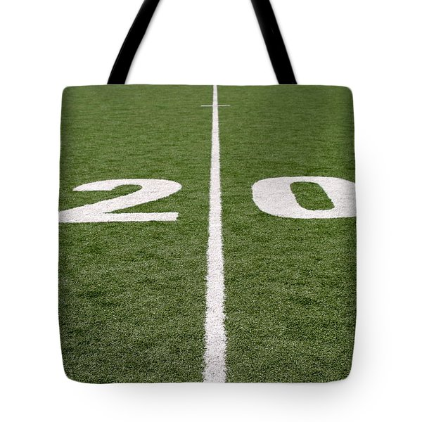 Tote Bag featuring the photograph Football Field Twenty by Henrik Lehnerer