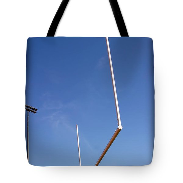 Tote Bag featuring the photograph Football Goal by Henrik Lehnerer