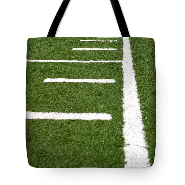 Tote Bag featuring the photograph Football Lines by Henrik Lehnerer