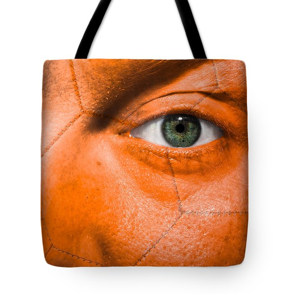 Football Scars Tote Bag by Semmick Photo