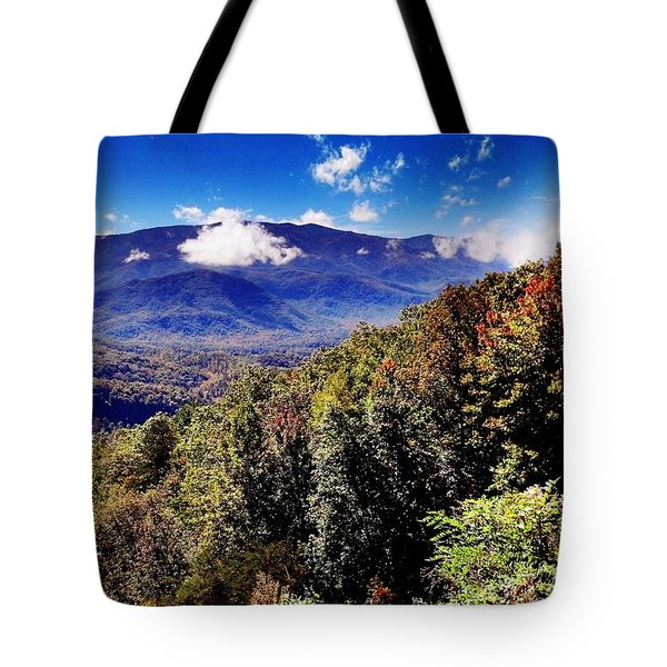 Foothills Parkway Tennessee Tote Bag by Janice Spivey