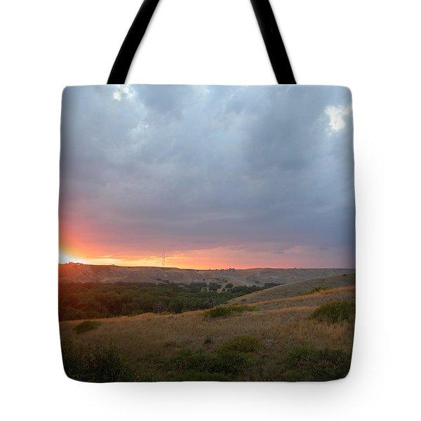 Foothills Sunset Tote Bag by Stuart Turnbull