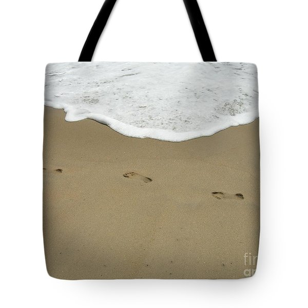 Tote Bag featuring the photograph Footprints by Arlene Carmel