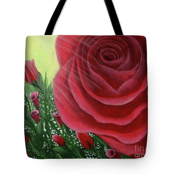 For The Love Of Roses Tote Bag