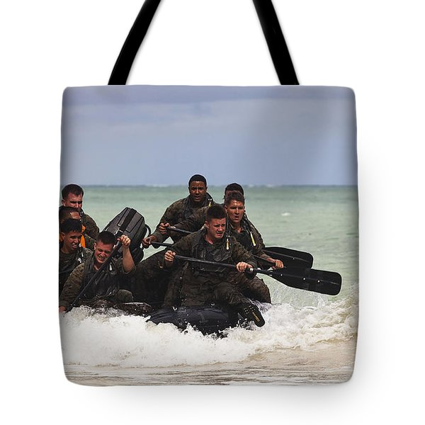 Force Reconnaissance Marines Paddle Tote Bag by Stocktrek Images