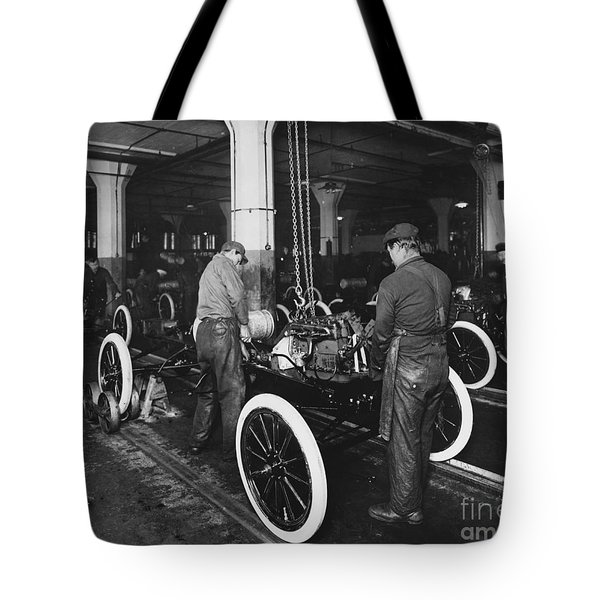 Ford Assembly Line Tote Bag by Omikron