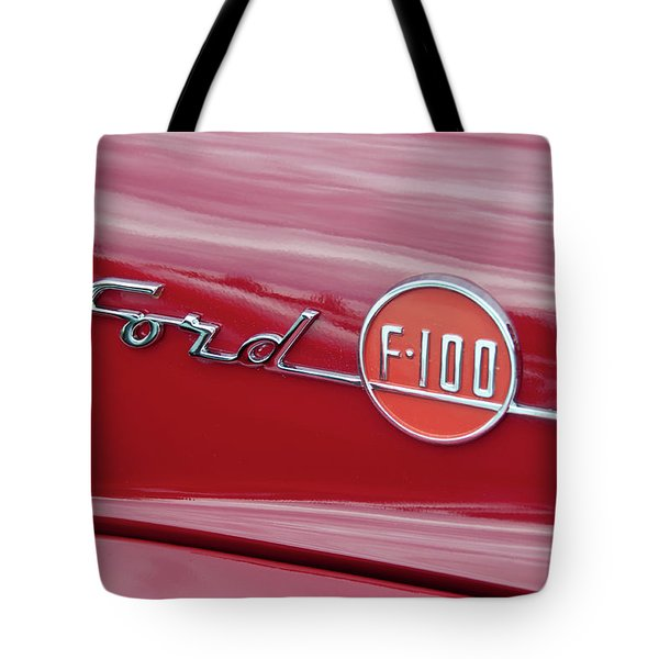 Ford F-100 Nameplate Tote Bag by Guy Whiteley