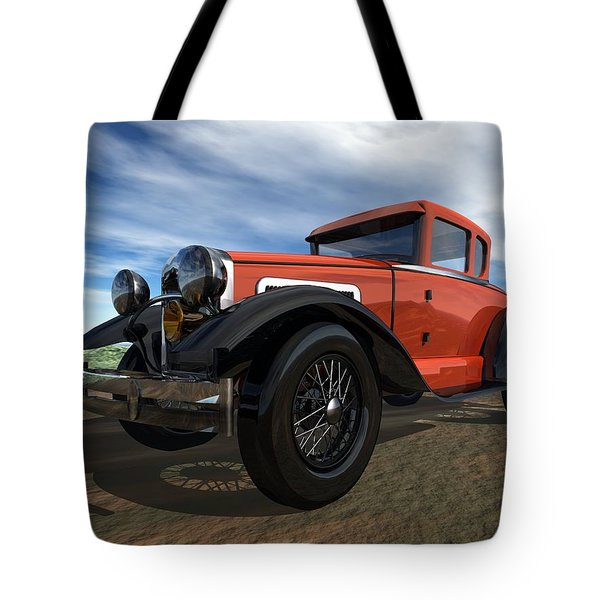 Tote Bag featuring the digital art Ford Model A by John Pangia