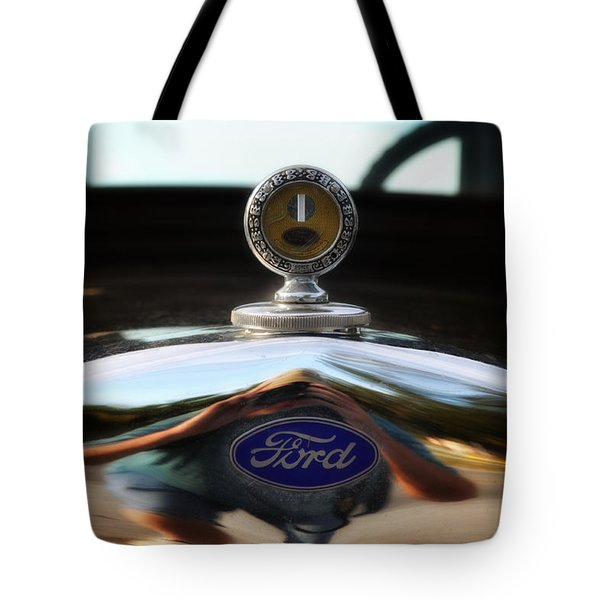 Ford Model T Hood Ornament Tote Bag by Bill Cannon