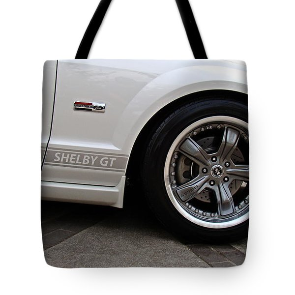 Ford Shelby Gt Tote Bag by Nick Kloepping