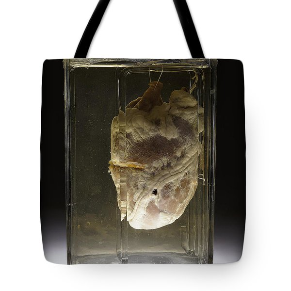 Forensic Evidence, Heart Perforated Tote Bag by Science Source