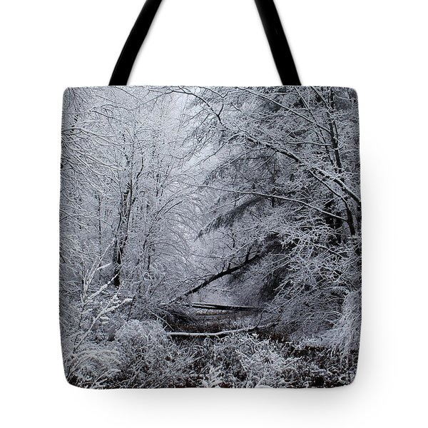 Forest Lace Tote Bag by Christian Mattison
