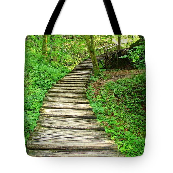 Forest Path Tote Bag by Ramona Johnston