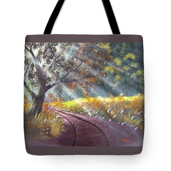 Forest Sunbeams Tote Bag
