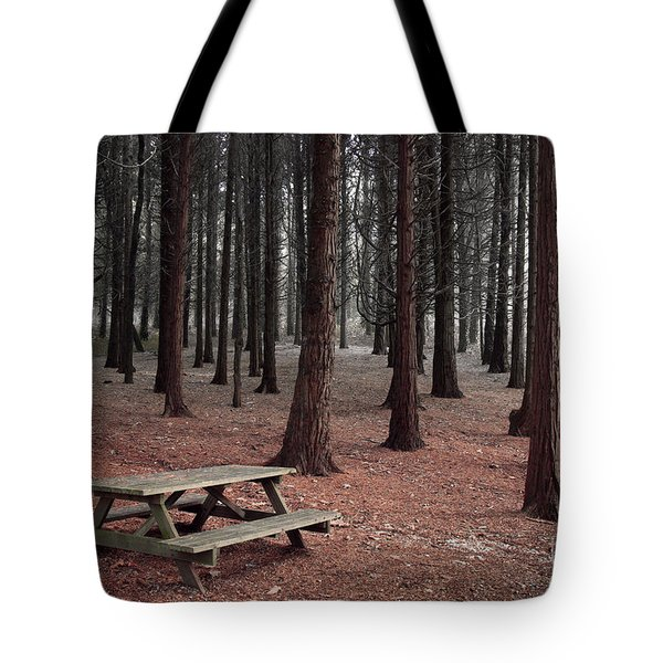 Forest Table Tote Bag by Carlos Caetano