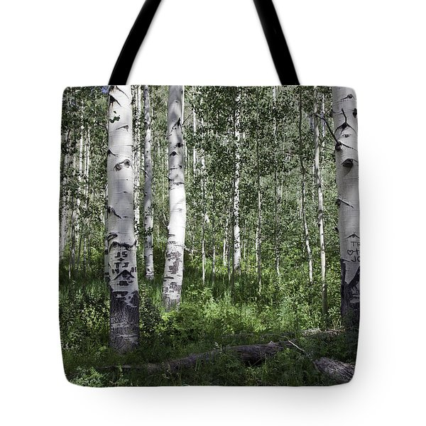 Forever Aspen Trees Tote Bag by Madeline Ellis