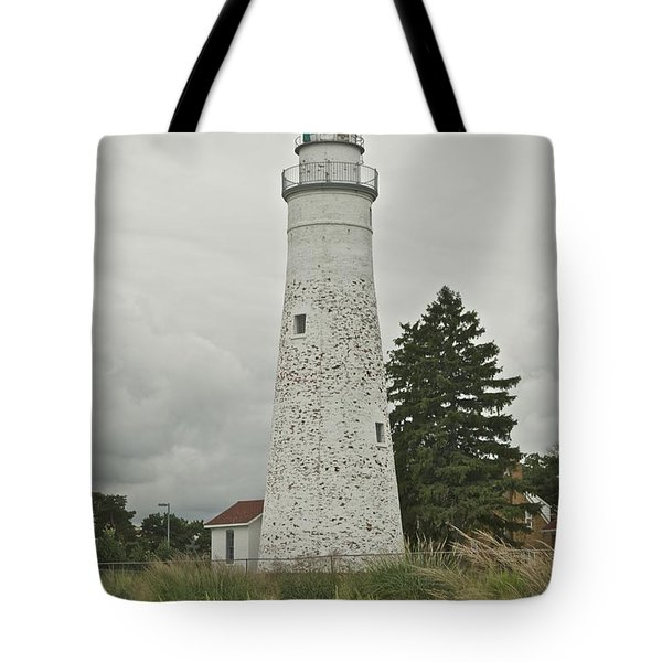 Fort Gratiot Lighthouse Tote Bag by Michael Peychich