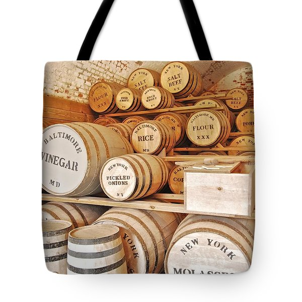 Fort Macon Food Supplies_9070_3759 Tote Bag by Michael Peychich