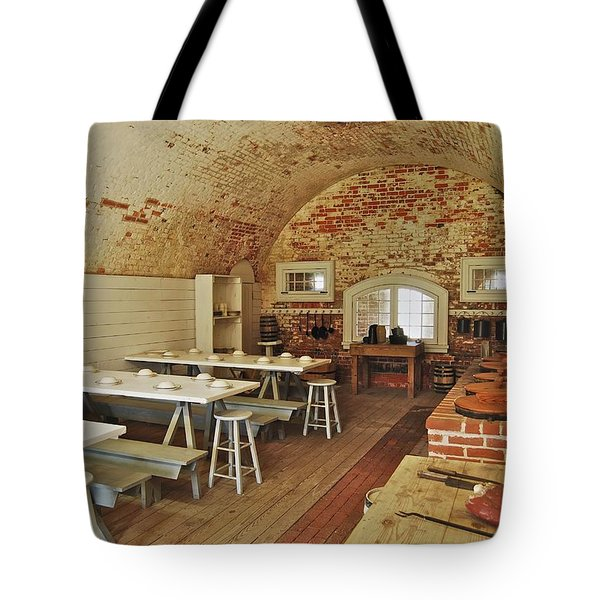 Fort Macon Mess Hall_9078_3765 Tote Bag by Michael Peychich