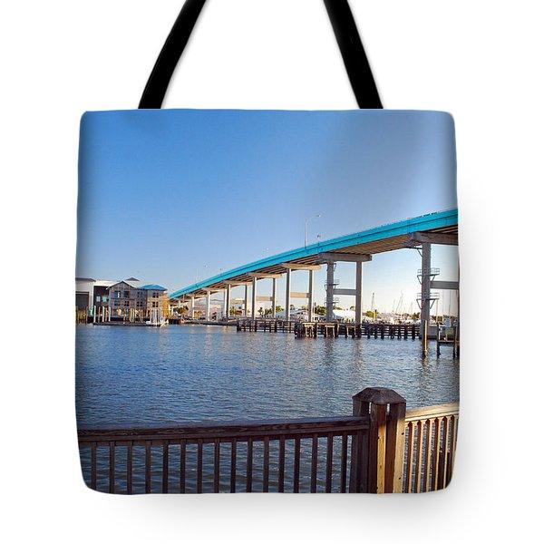 Fort Myers Bridge Tote Bag