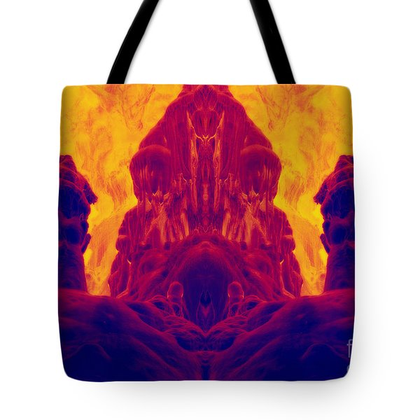 Fossilized Dwarf Tote Bag by Michal Boubin