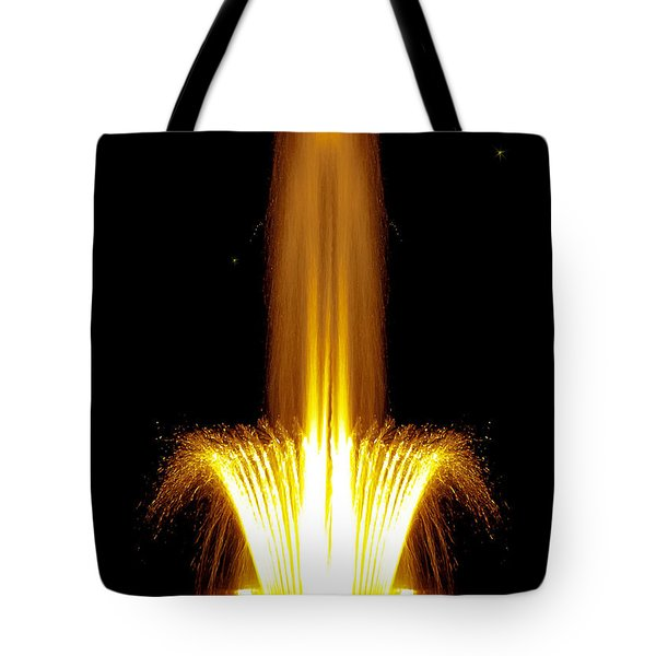 Fountain Flames Tote Bag by DigiArt Diaries by Vicky B Fuller