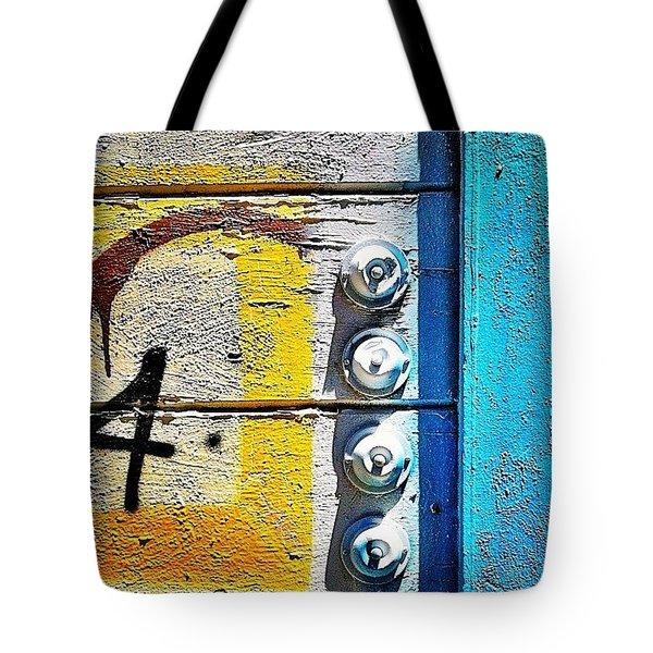 Four Doorbells Tote Bag