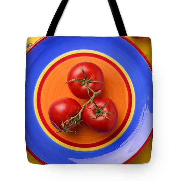 Four Tomatoes  Tote Bag by Garry Gay