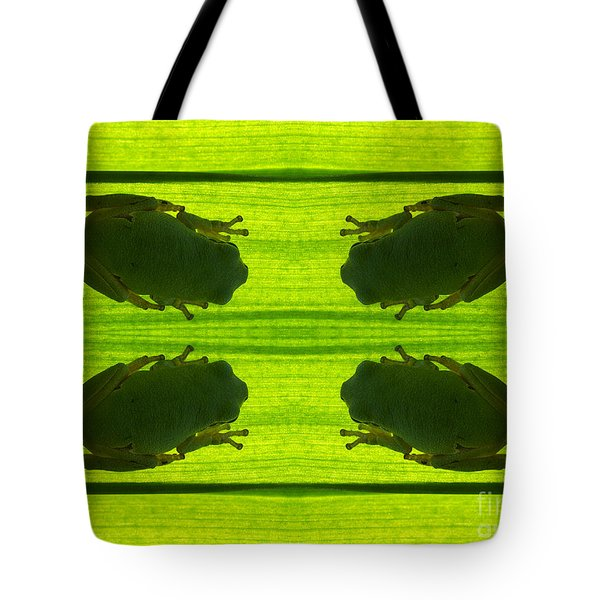 Four Tree Frog Tote Bag by Odon Czintos