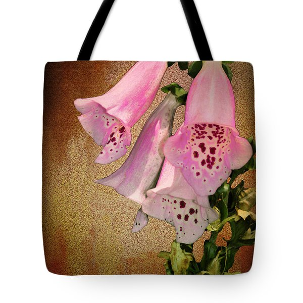 Fox Glove Grunge Tote Bag by Bill Cannon