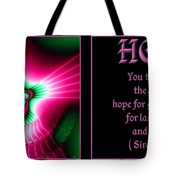 Fractal Hope Sirach 2 Tote Bag by Rose Santuci-Sofranko