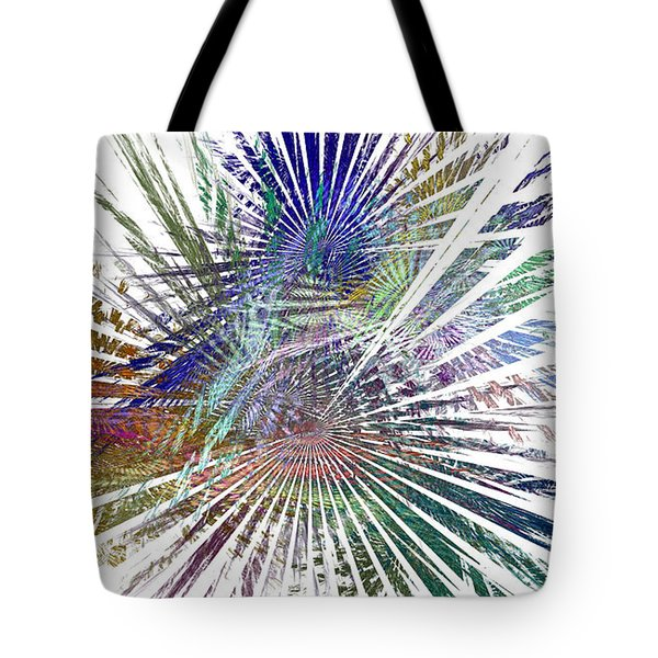 Fractura Colora On White Tote Bag