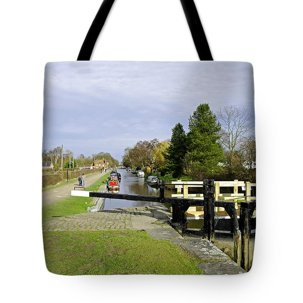 Fradley Middle Lock No. 18 Tote Bag by Rod Johnson