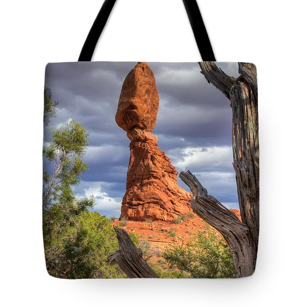 Framed Balance Rock Tote Bag