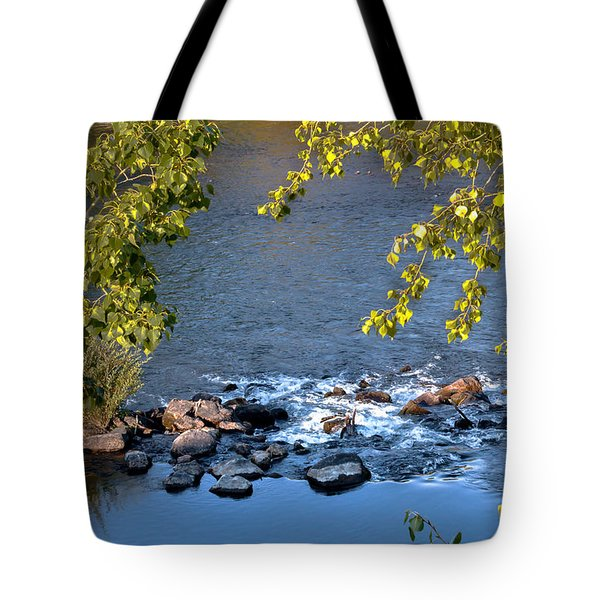 Framed Rapids Tote Bag by Robert Bales