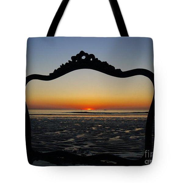 Framed Sunrise Tote Bag by Nancie DeMellia