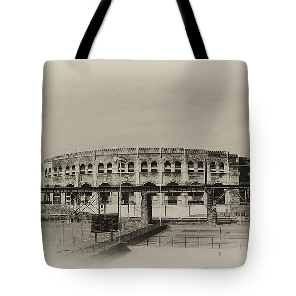 Franklin Field - University Of Penn Tote Bag by Bill Cannon