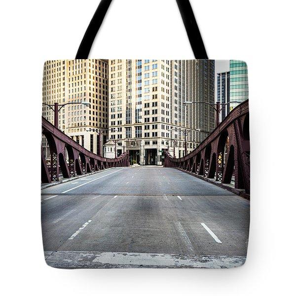 Franklin Orleans Street Bridge Chicago Loop Tote Bag by Paul Velgos