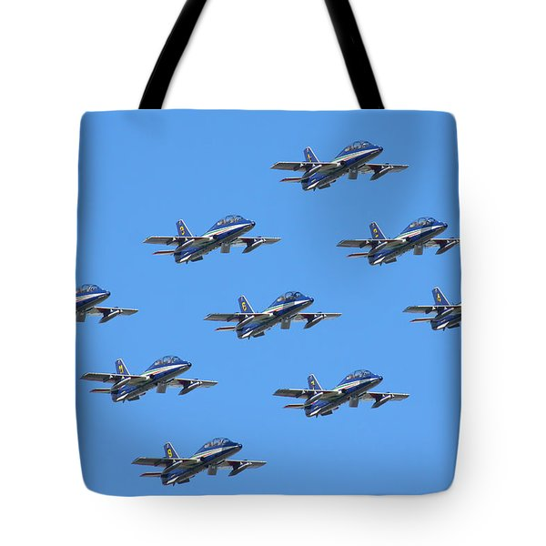 Frecce Tricolori Diamond 9 Tote Bag