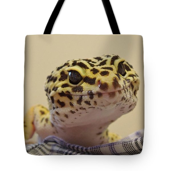 Freckles The Smiling Leopard Gecko Tote Bag by Chad and Stacey Hall